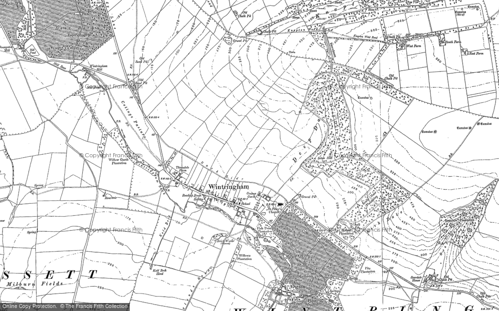 Old Map of Wintringham, 1888 - 1890 in 1888