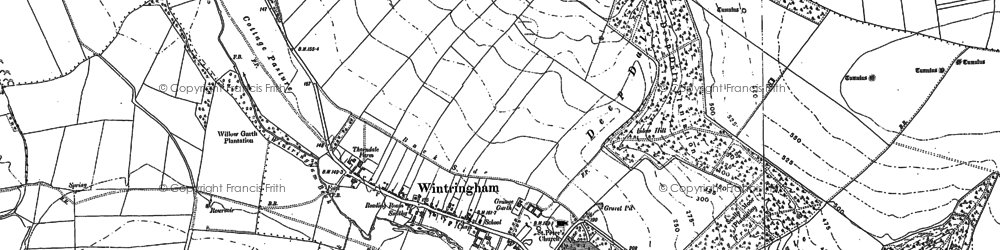 Old map of Linton Wold in 1888