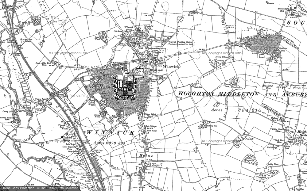 Old Map of Winwick, 1891 - 1906 in 1891