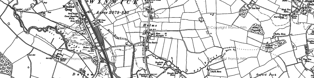 Old map of Longford in 1891