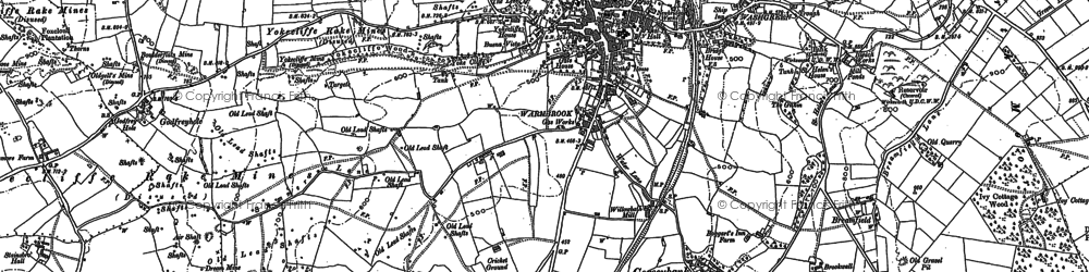 Old map of Wirksworth in 1879