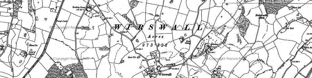 Old map of Wirswall in 1897