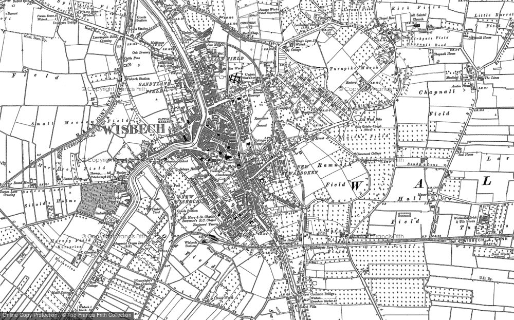 Map of Wisbech, 1900 - 1901