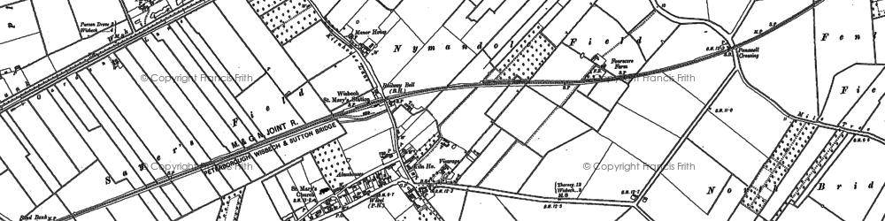 Old map of Wisbech St Mary in 1886