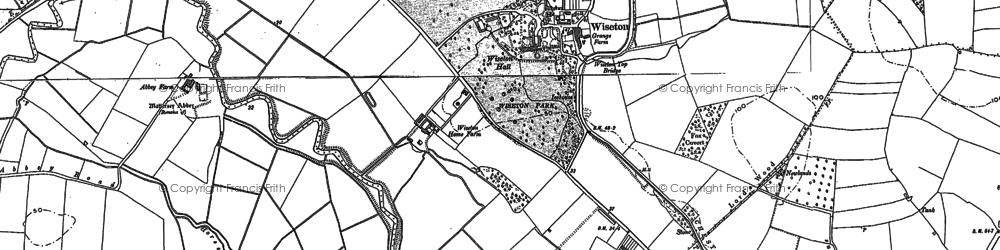 Old map of Wiseton in 1885