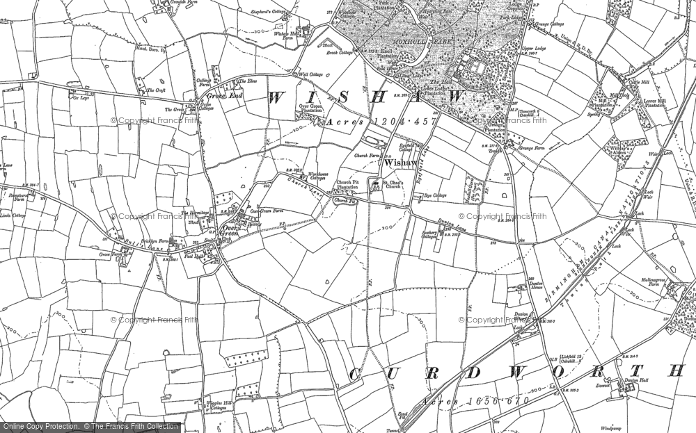 Old Map of Historic Map covering Allen End in 1886