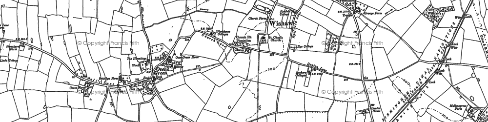 Old map of Allen End in 1886