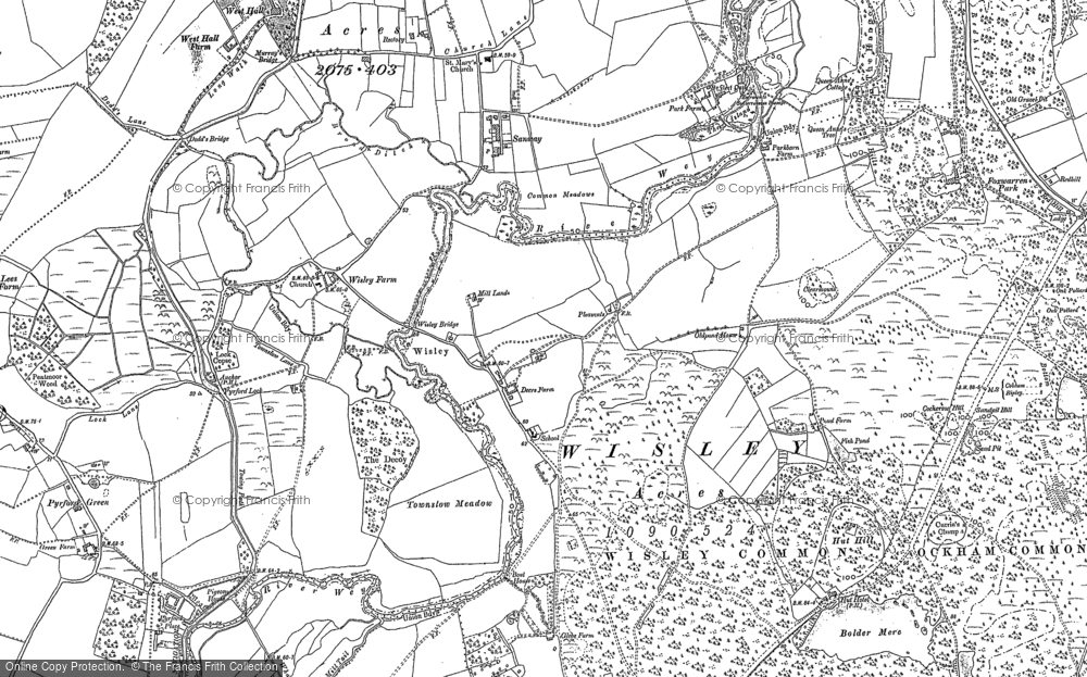 Map of Wisley, 1895
