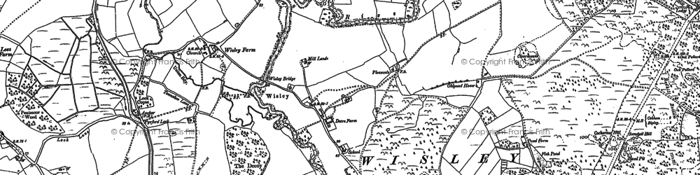 Old map of Wisley in 1895