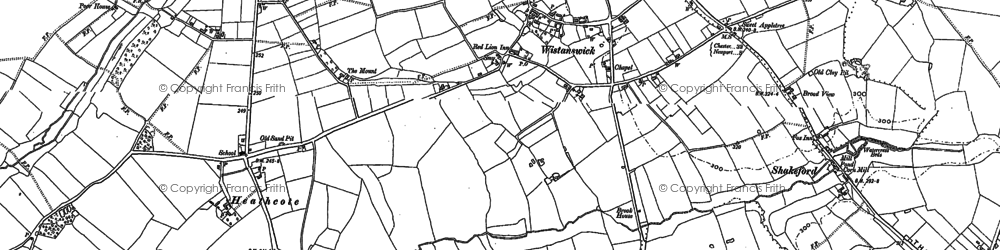 Old map of Wistanswick in 1880