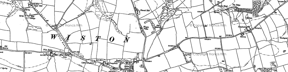 Old map of Wiston in 1887