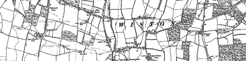 Old map of Wiston Park in 1895