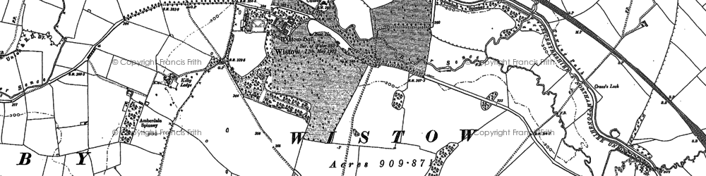 Old map of Wistow in 1885