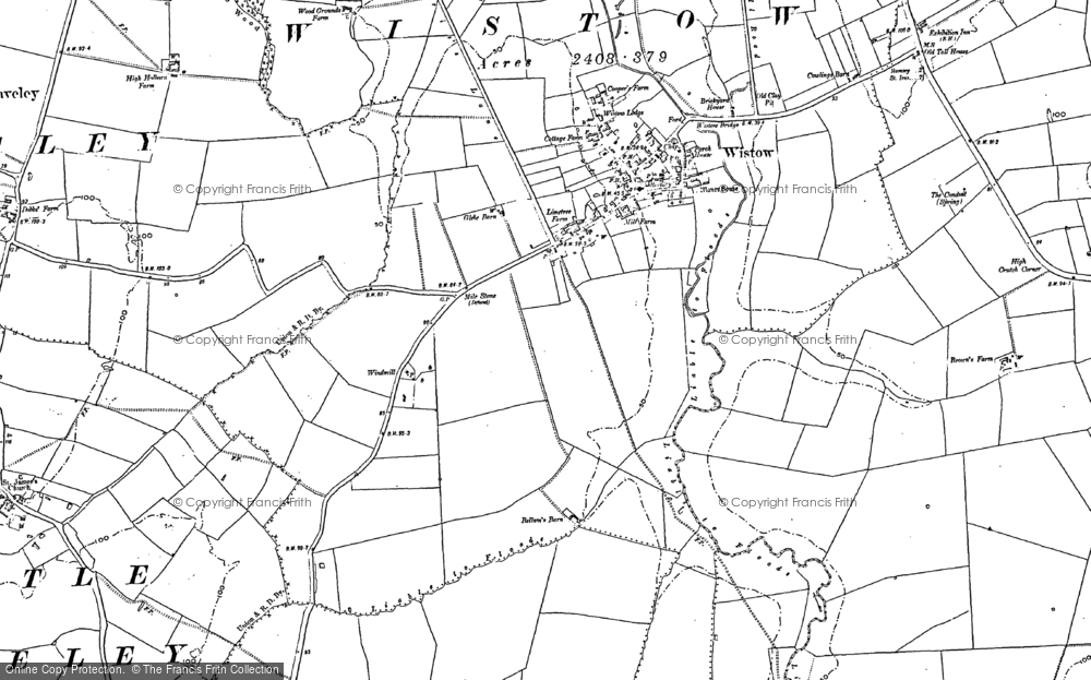 Old Map of Wistow, 1887 in 1887