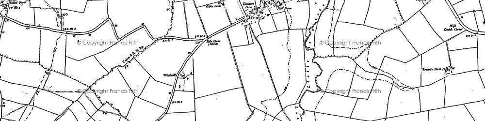 Old map of Wistow in 1887