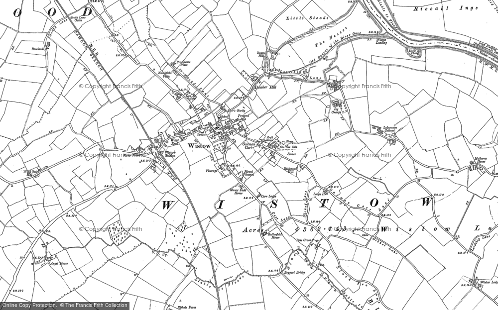 Old Map of Wistow, 1890 in 1890