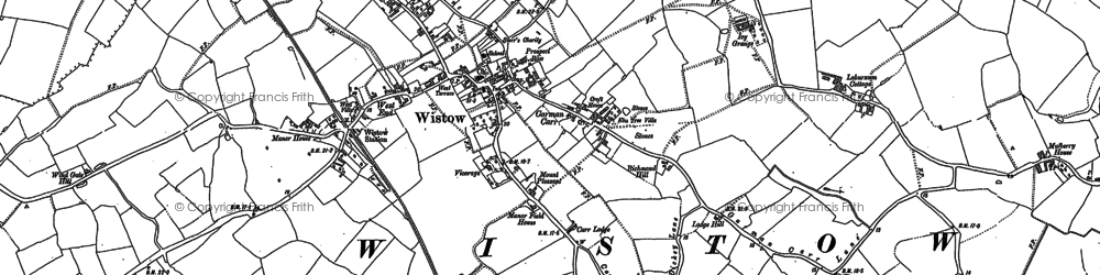 Old map of Wistow in 1890