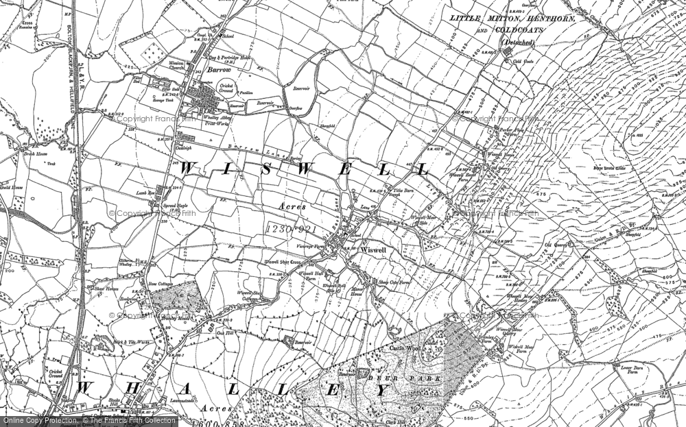 Map of Wiswell, 1892