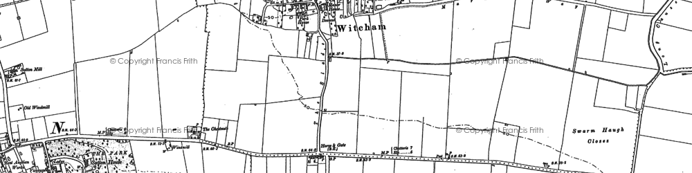 Old map of Witcham in 1886