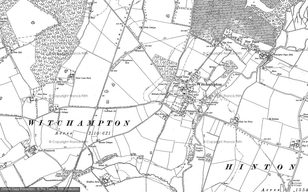 Map of Witchampton, 1887