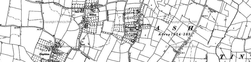 Old map of Witcombe in 1885