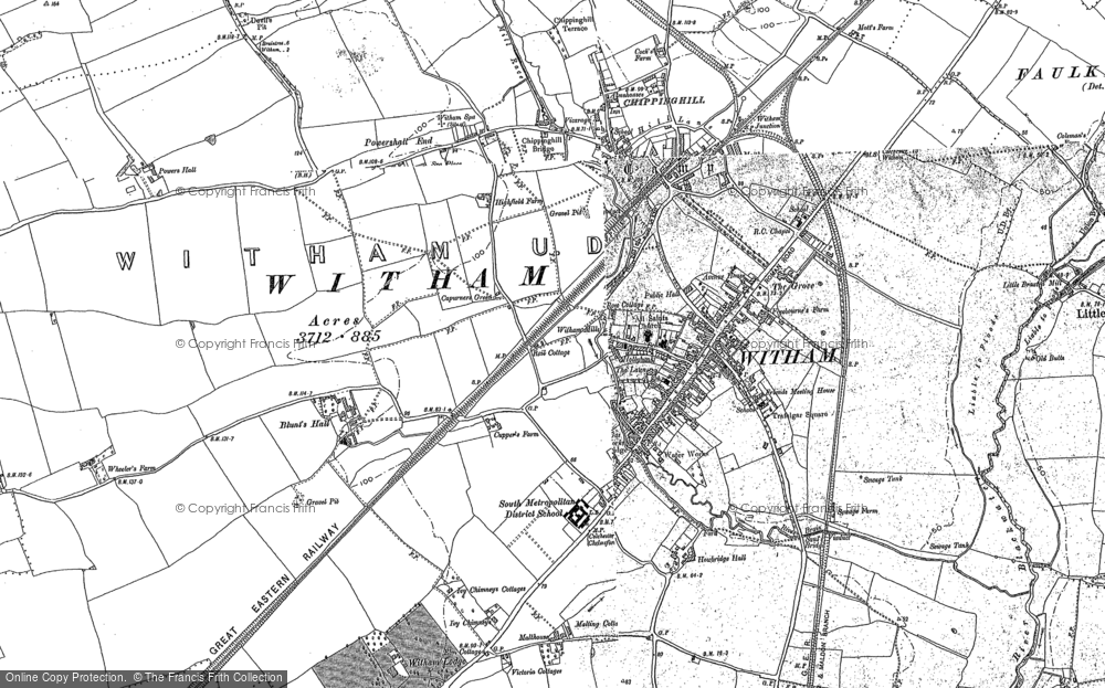 Map of Witham, 1895 - 1896