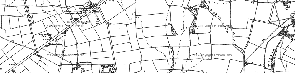 Old map of Witham St Hughs in 1904