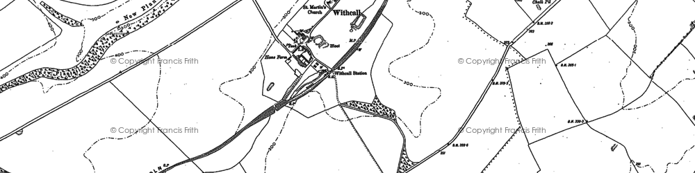 Old map of Withcall in 1887
