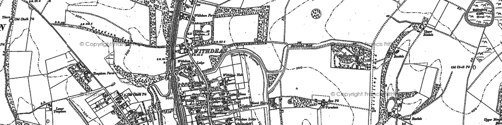 Old map of Withdean in 1897