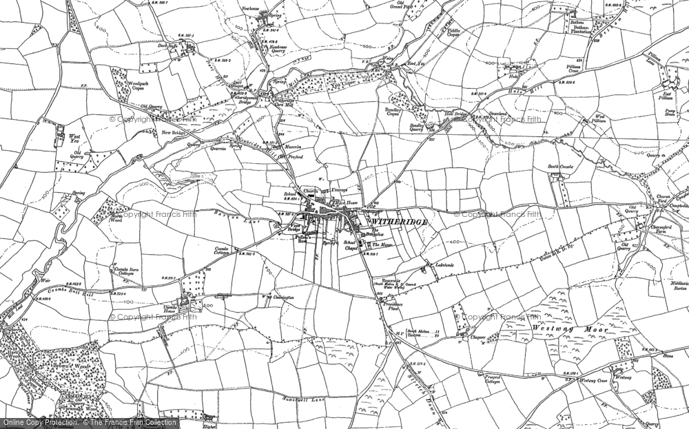 Old Map of Historic Map covering Woodford in 1887