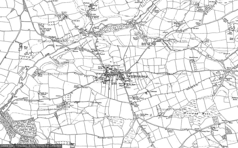 Map of Witheridge, 1887