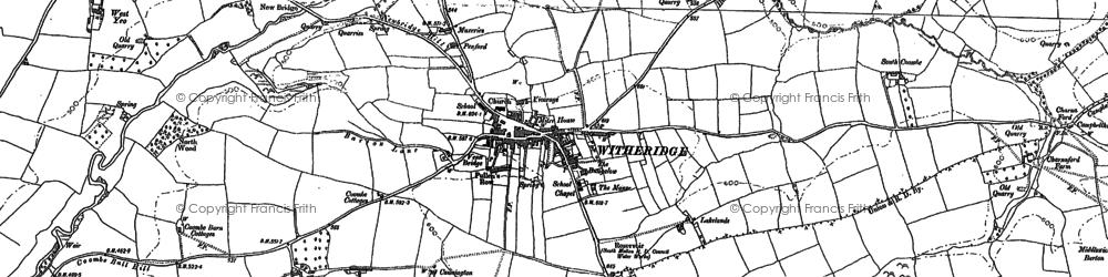 Old map of West Yeo Moor in 1887