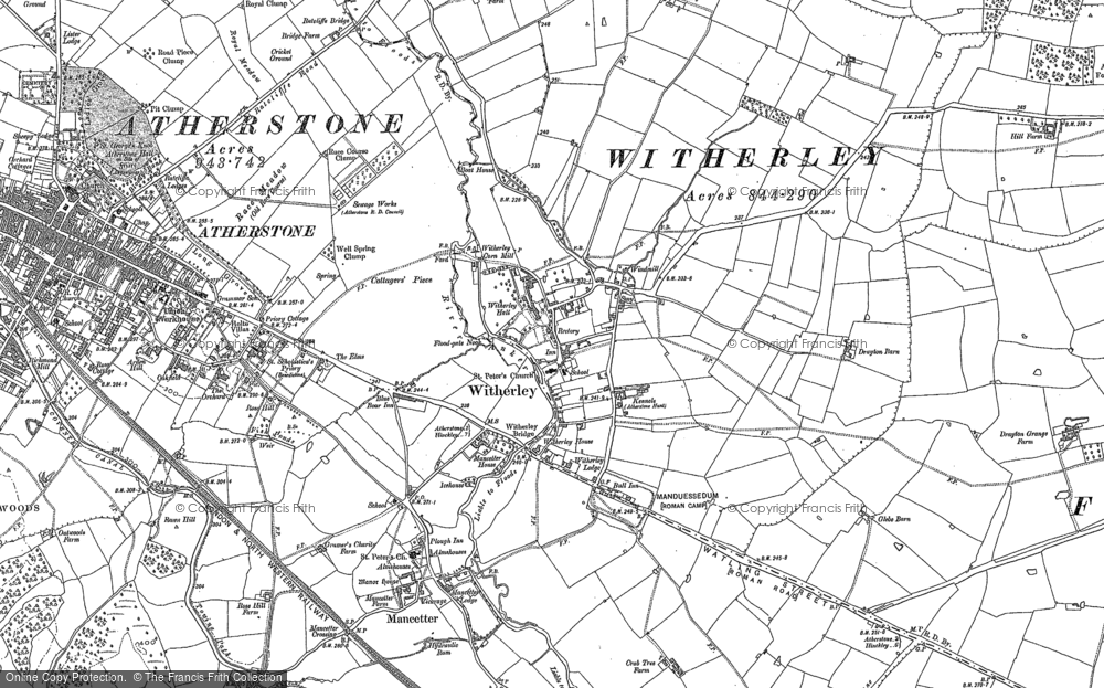 Old Map of Witherley, 1901 in 1901