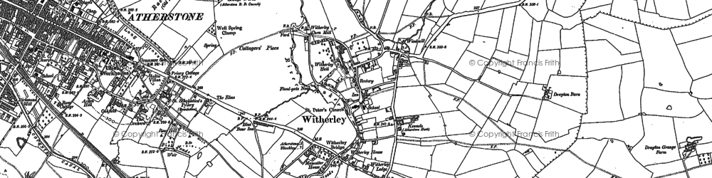 Old map of Witherley in 1901