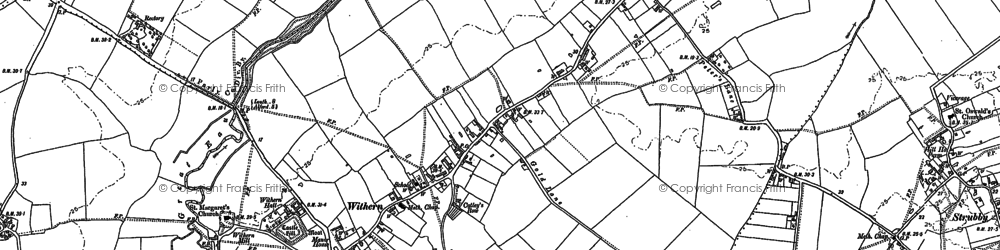 Old map of Withern in 1887