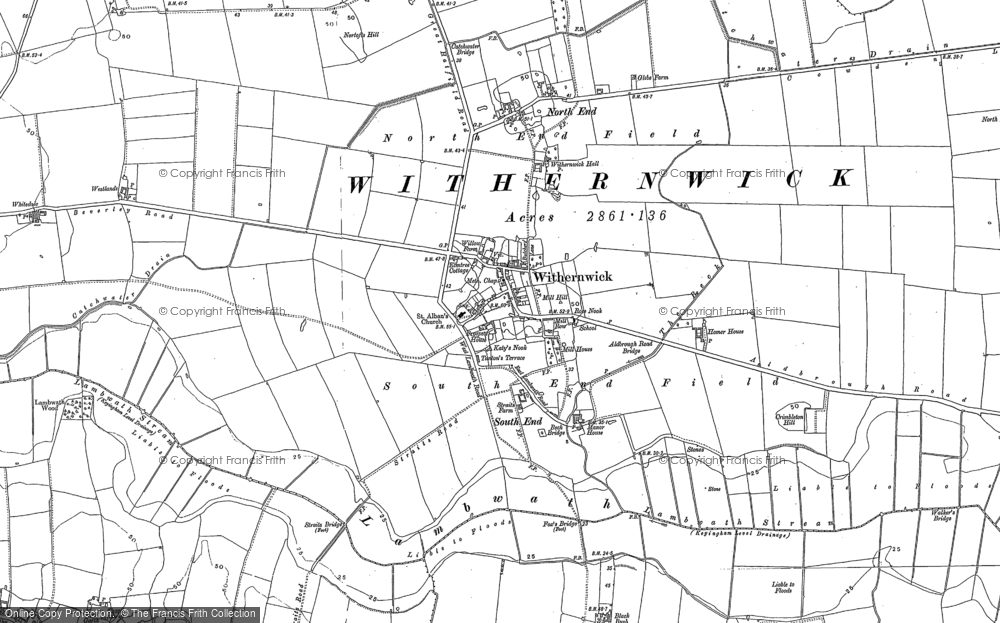 Old Map of Withernwick, 1889 in 1889