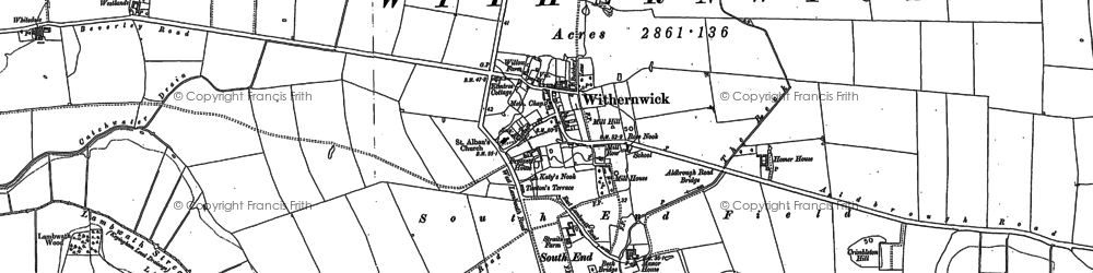 Old map of Withernwick in 1889