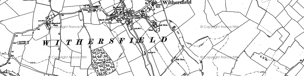 Old map of Withersfield in 1901