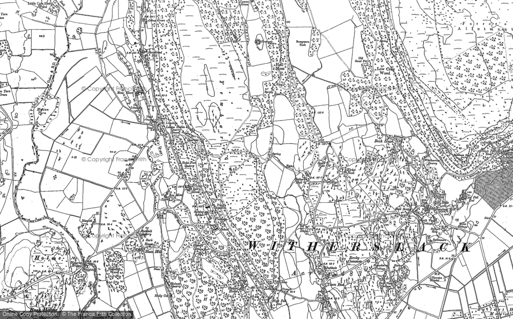 Map of Witherslack, 1896