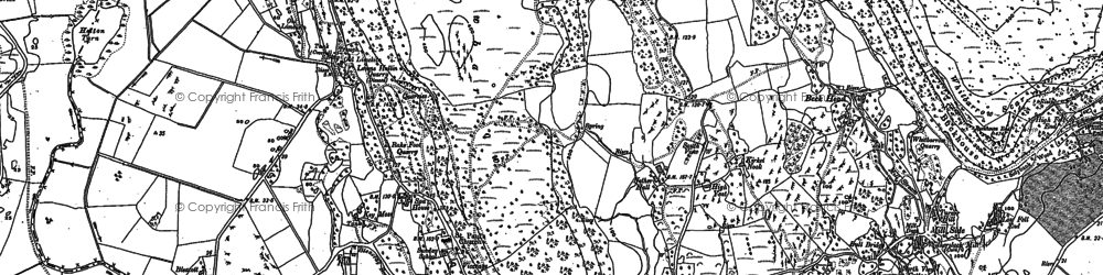 Old map of Lawns in 1896