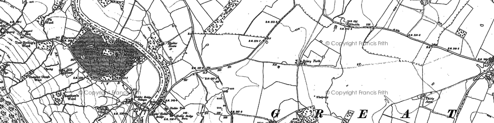 Old map of Withgill in 1907