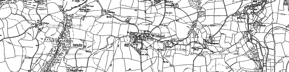 Old map of Withiel in 1880