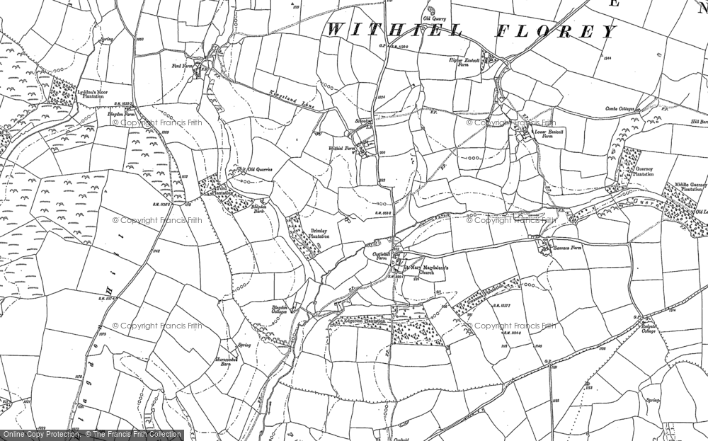 Old Map of Historic Map covering Leather Barrow in 1887