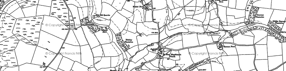 Old map of Withiel Florey in 1887
