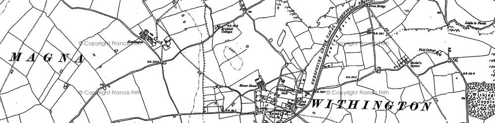 Old map of Barker's Square in 1881