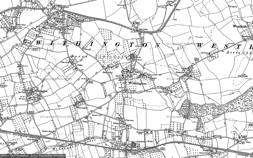 Old Map of Withington, 1886 in 1886
