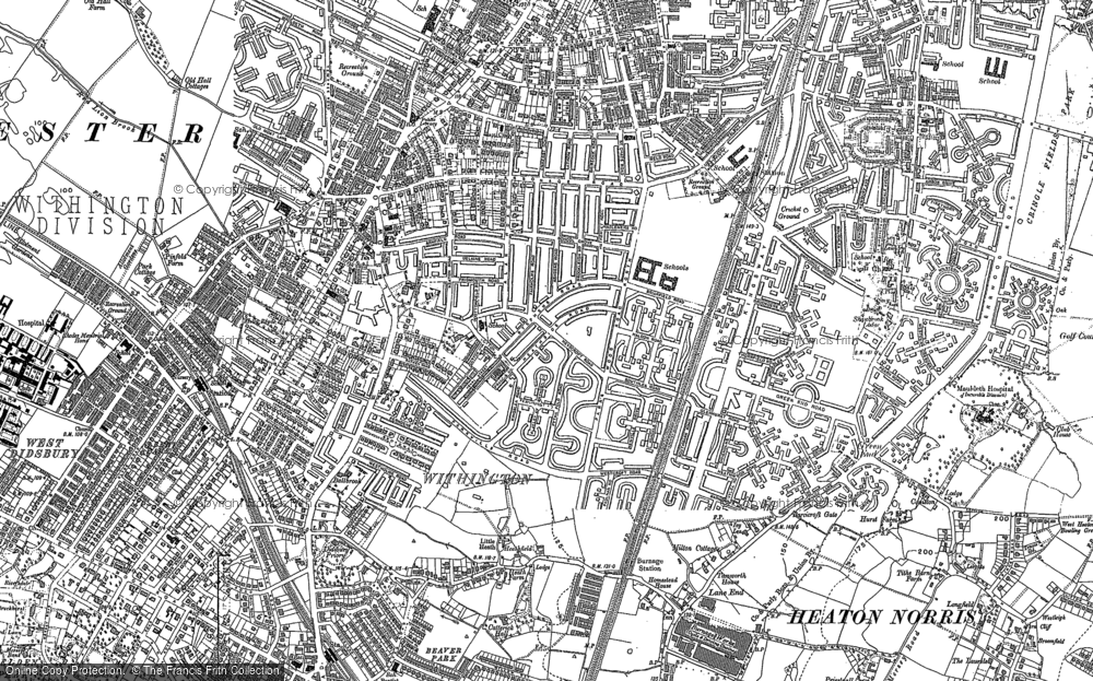 Map of Withington, 1905