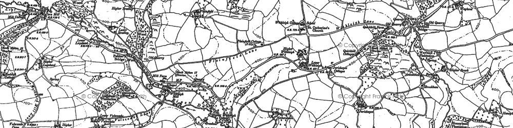 Old map of Withleigh in 1887