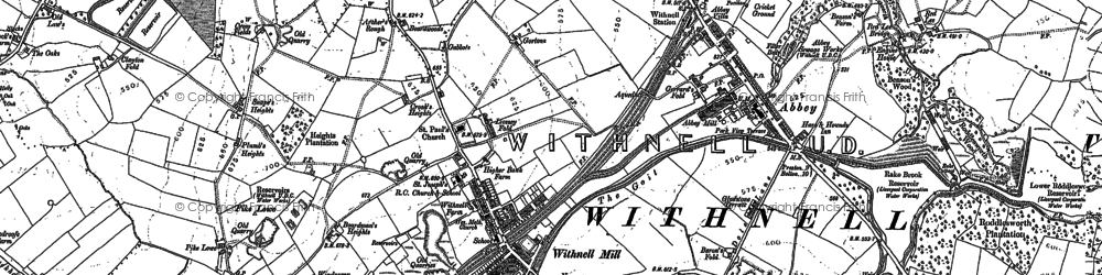Old map of Withnell in 1893
