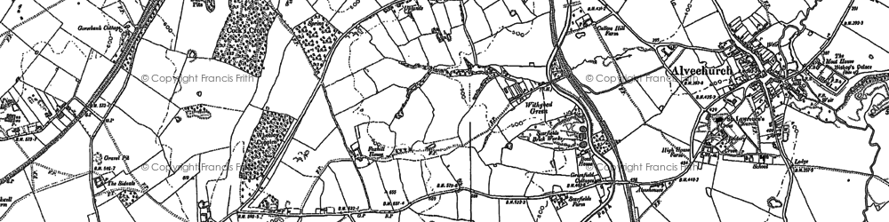 Old map of Withybed Green in 1883